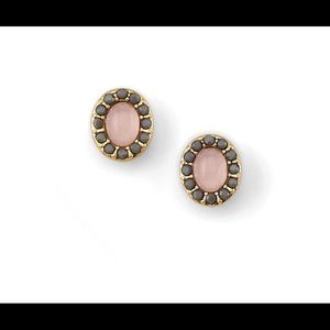 New Lia Sophia Pink Gray Stone Earrings